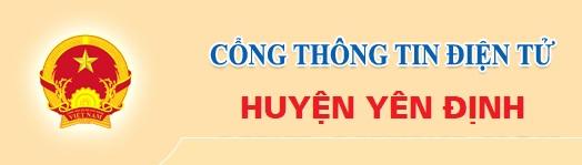 Cổng thông tin huyện Yên Định